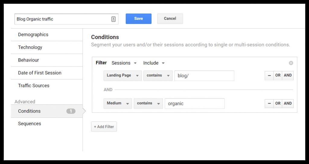 مثالی از بخش بندی داده ها در گوگل آنالیتیکس